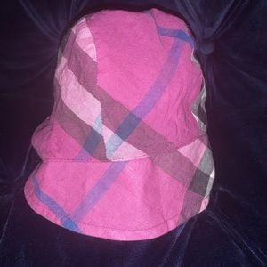 Burberry Pippion Check Hat, Magenta/Pink